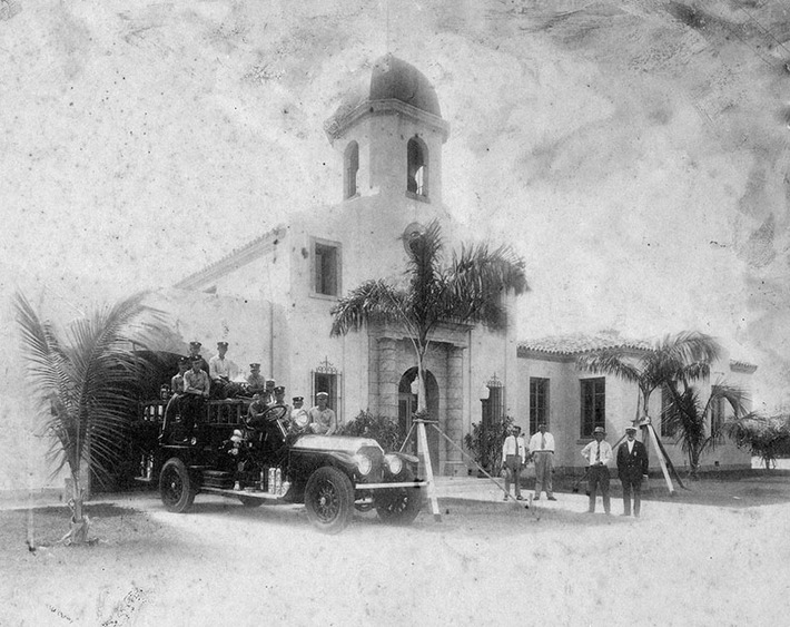Delray Beach's William Alsmeyer completed the design on the town hall, which opened in 1927 after two Mizner efforts went bust. Photo provided by Boca Raton Historical Society