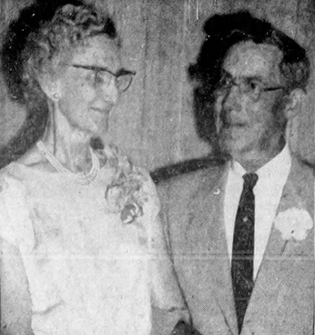 William Alsmeyer, the Delray Beach architect for Boca Raton's old town hall, with his wife, Florence, in a 1962 Palm Beach Post photo. Photo provided by Boca Raton Historical Society