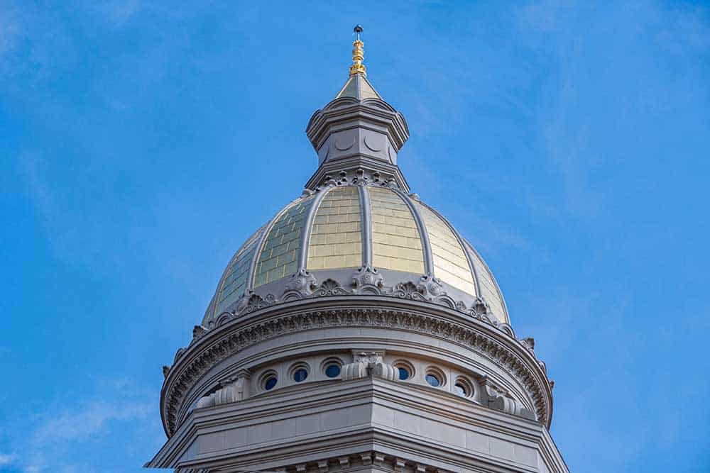 GOLD RUSH: $300M Historic Restoration of WY Capitol Building Included a New Gilded Dome
